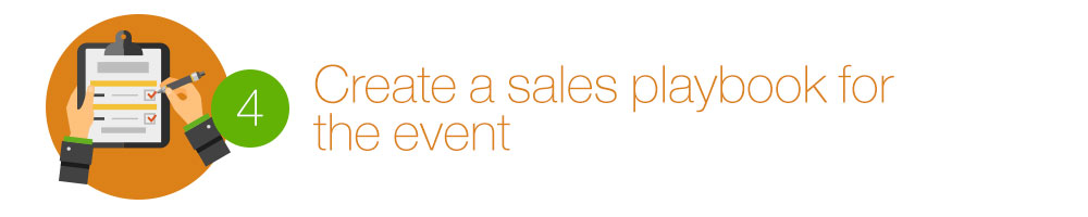 Create a sales playbook for the event