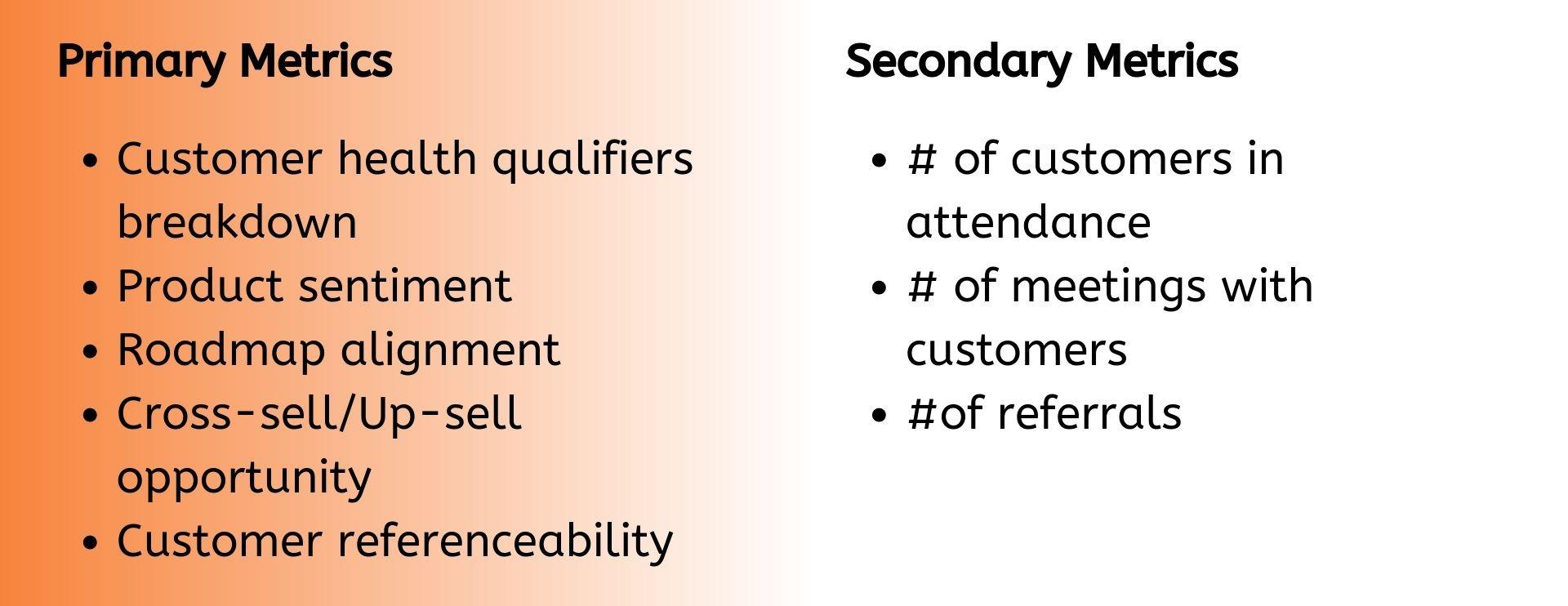 Primary Metrics (3)